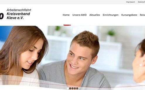 Screenshot Website AWO Kreis Kleve