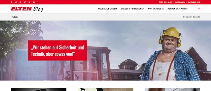 Screenshot Website Elten-Blog