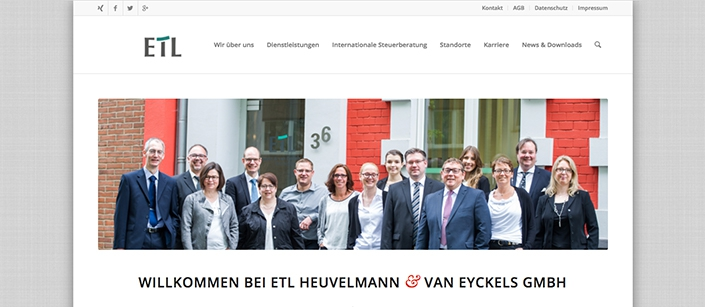 Screenshot Website HVE-Kleve