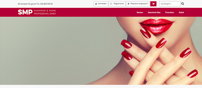 Screenshot Website Beauty Addicts
