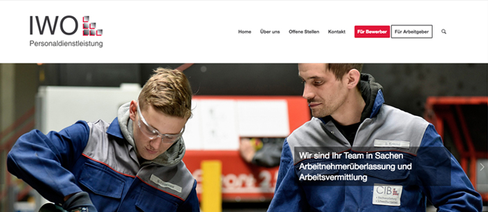 Screenshot Website IWO GmbH
