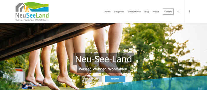 Screenshot Website NeuSeeLand