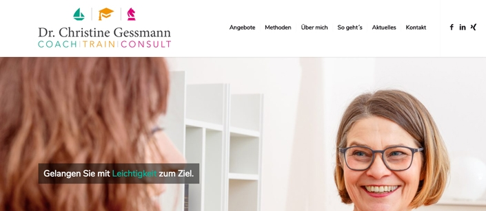 Screenshot Website Christine Gessmann